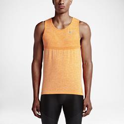 Мужская майка для бега  Dri-FIT Knit Nike. Цвет: оранжевый