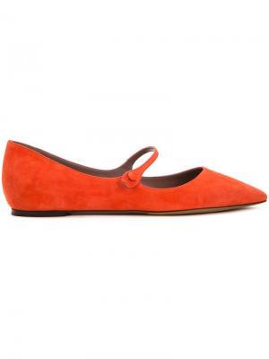 Балетки Hermione Tabitha Simmons. Цвет: жёлтый и оранжевый