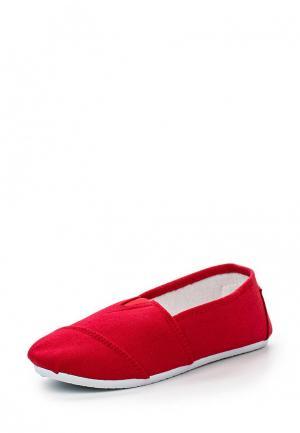 Слипоны Moza-X. Цвет: красный