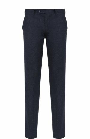 Шерстяные брюки прямого кроя Germano. Цвет: синий