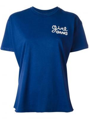 Футболка Girl Gang Sandrine Rose. Цвет: синий