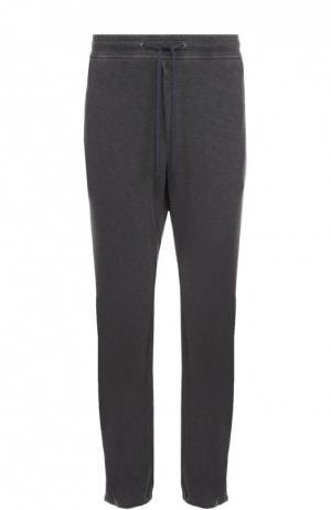 Хлопковые брюки прямого кроя James Perse. Цвет: темно-серый