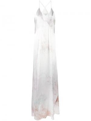 Вечернее платье тай-дай Galvan. Цвет: розовый и фиолетовый
