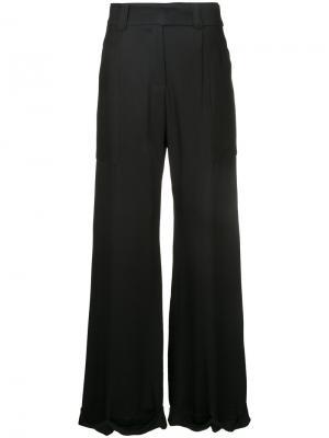 Широкие брюки Taylor. Цвет: чёрный