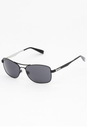 Очки солнцезащитные Trussardi. Цвет: черный