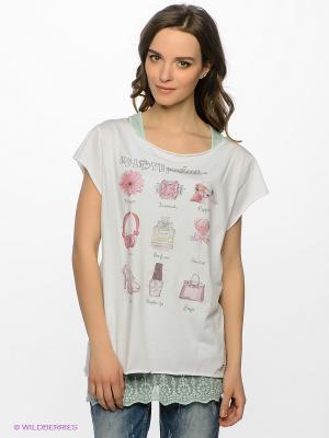 Комплект Maison espin. Цвет: светло-зеленый, бледно-розовый, белый