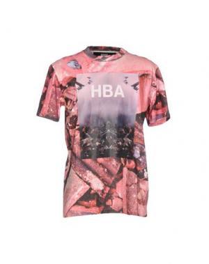 Футболка HBA HOOD BY AIR. Цвет: красный