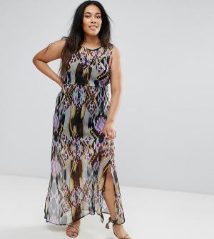 Diya Платье макси с принтом. Цвет: черный