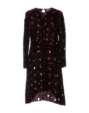 Короткое платье ARIES. Цвет: баклажанный