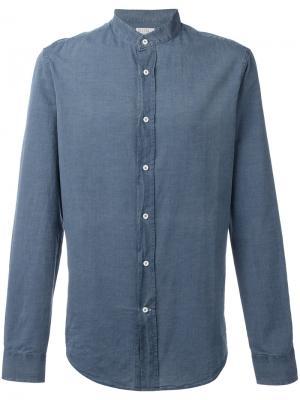 Джинсовая рубашка с узким воротником Brunello Cucinelli. Цвет: синий