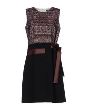 Платье до колена NATAN. Цвет: темно-синий