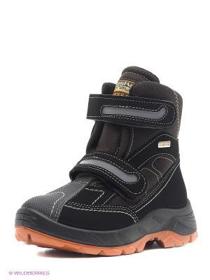 Ботинки Alaska Originale. Цвет: черный, оранжевый