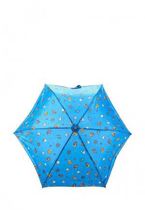 Зонт складной United Colors of Benetton. Цвет: синий