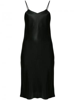 Классическое платье-комбинация Ivan Grundahl. Цвет: чёрный