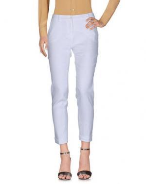 Повседневные брюки BRUNO MANETTI. Цвет: белый