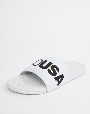 DC Shoes Белые шлепанцы Bolsa. Цвет: белый