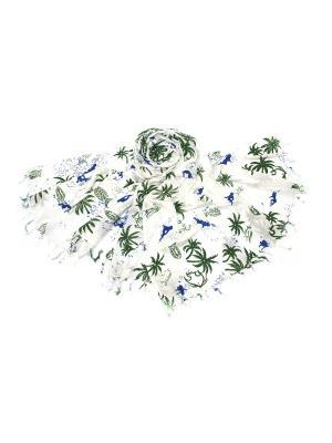Парео Ethnica. Цвет: синий, белый, зеленый