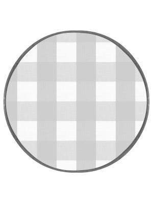 Подушка на табурет хлопок,круг 34, 2 см. DEKORTEX. Цвет: светло-серый, белый