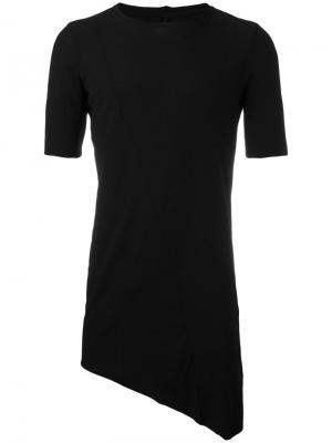 Удлиненная футболка Masnada. Цвет: чёрный