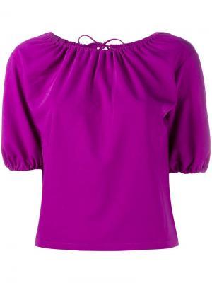 Блузка с открытыми плечами Rejina Pyo. Цвет: розовый и фиолетовый