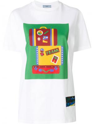 Футболка с логотипом box Prada. Цвет: белый