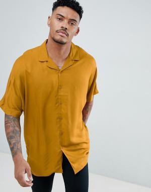 ASOS Oversize-рубашка из вискозы горчичного цвета с рукавами летучая мышь A. Цвет: желтый