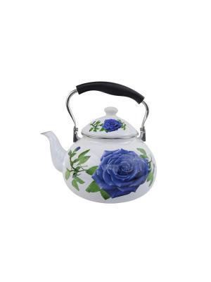 Чайник эмаль (газ/электро/керамика) 5 л Peterhof. Цвет: белый, синий