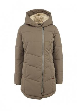 Куртка утепленная Roxy. Цвет: бежевый