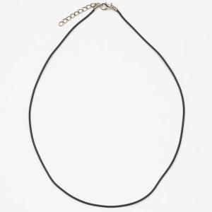 Шнурок для кулона из каучука, арт. ШН-017 Бусики-Колечки. Цвет: черный