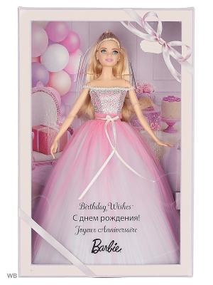 Коллекционные куклы Пожелания ко дню рождения Barbie. Цвет: бледно-розовый