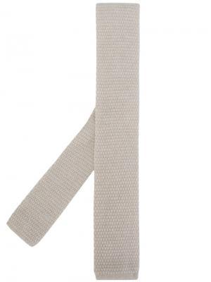 Трикотажный галстук Eleventy. Цвет: телесный