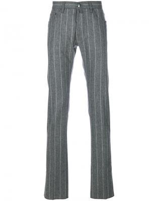 Классические полосатые брюки Jacob Cohen. Цвет: серый