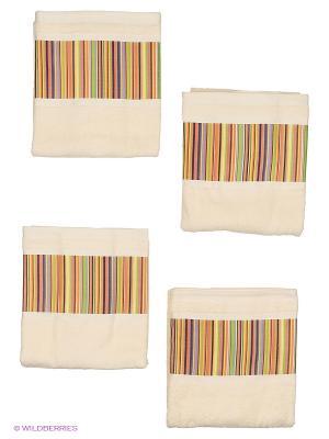4 банных полотенца 127х69 см Blonder Home. Цвет: белый