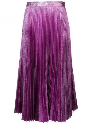 Плиссированная юбка Abigail Zac Posen. Цвет: розовый и фиолетовый