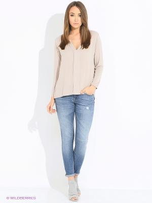 Блуза Rosa&Friends. Цвет: светло-бежевый
