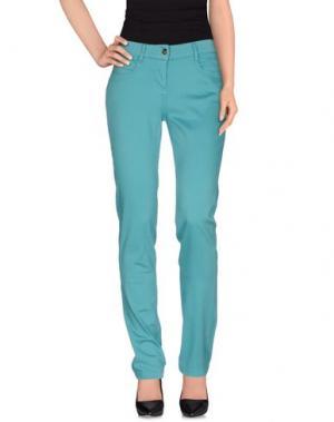 Повседневные брюки DEK'HER. Цвет: бирюзовый
