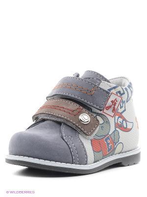 Ботинки ELEGAMI. Цвет: белый, серо-голубой