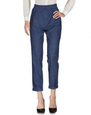 Повседневные брюки PF PAOLA FRANI. Цвет: синий