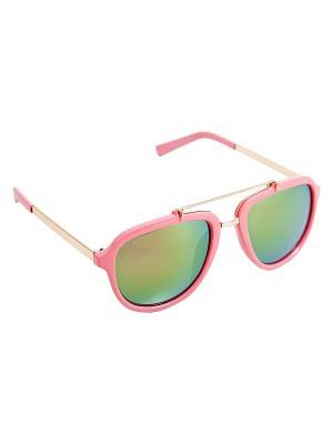Солнцезащитные очки Kameo-bis. Цвет: розовый, золотистый, зеленый