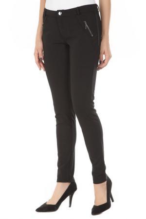 Зауженные брюки с застёжкой на молнию Gaudi. Цвет: 2001черный