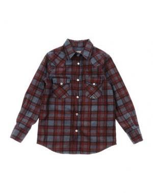 Джинсовая рубашка ROŸ ROGER'S. Цвет: красно-коричневый