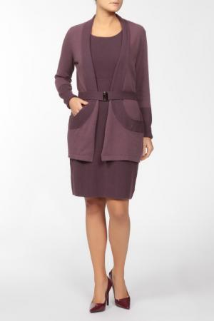 Комплект: кардиган, платье Luisa Spagnoli. Цвет: бордо