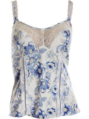 Комплект :топ-брюки Primavera. Цвет: голубой