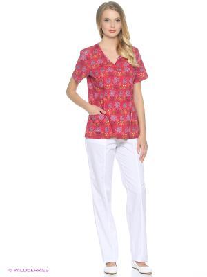 Блузка медицинская Med Fashion Lab. Цвет: красный