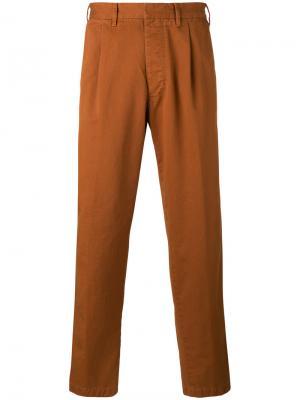 Укороченные брюки The Gigi. Цвет: коричневый