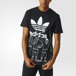 Футболка Trefoil Graphic  Originals adidas. Цвет: черный