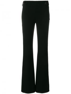Расклешенные брюки с декоративными пуговицами Emilio Pucci. Цвет: чёрный