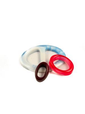 Пряжка Волшебная пуговица Евро-овал и кольцо для шарфа madam Пряжкина. Цвет: морская волна, красный, темно-коричневый