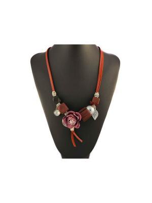 Колье Miss Bijou. Цвет: розовый,золотистый,черный,бордовый,коричневый,серебристый