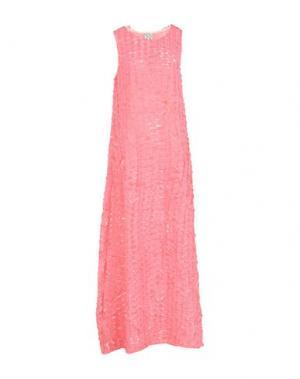 Длинное платье DOUUOD. Цвет: розовый